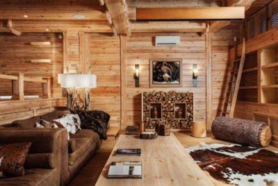 200 идей дизайна интерьера деревянного дома внутри с фото 🖼