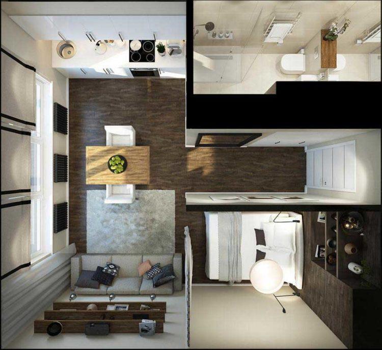 200 идей дизайна интерьера с перегородками в студии с фото �� - Ремонт своими руками
