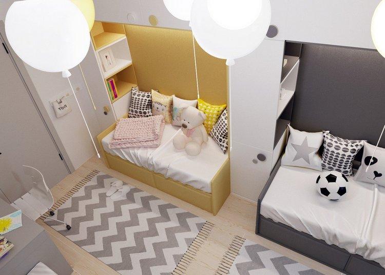 Интерьеры детской комнаты брату и сестре