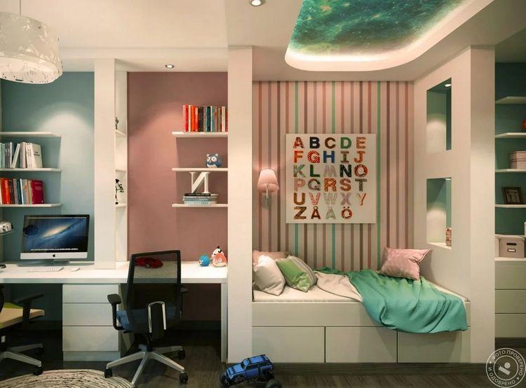 Продуманный дизайн детской комнаты