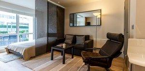 Японские шторы в интерьере и при зонировании комнаты