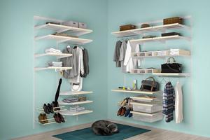 Сетчатые системы хранения в гардеробную
